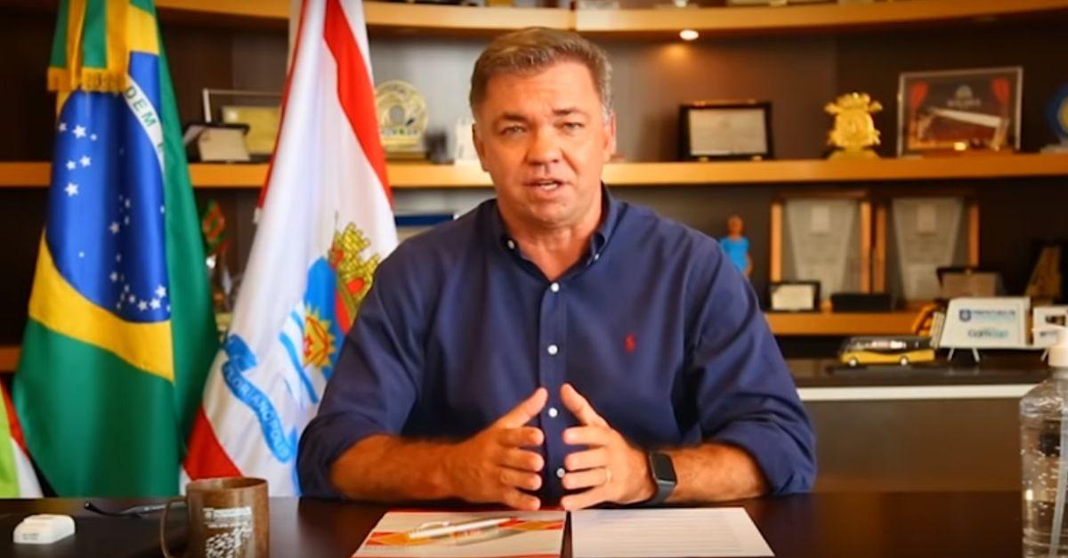 Prefeito da Capital, Gean Loureiro, segue internado e tem estado de saúde estável