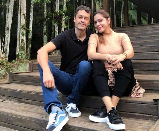 Rubens Angelotti e a veterinária Renata Pescador
