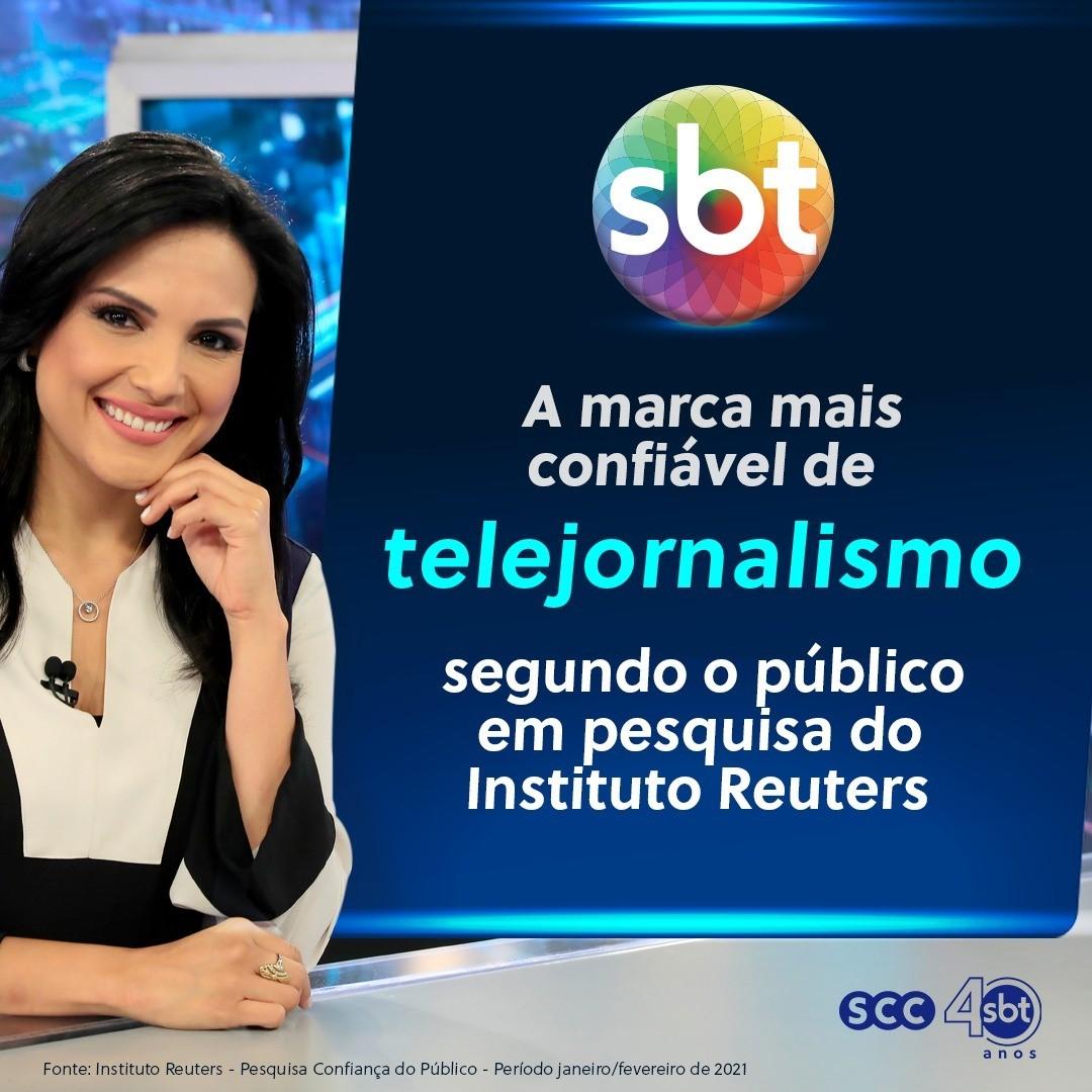 SBT é a marca mais confiável de telejornalismo segundo o público em pesquisa do Instituto Reuters