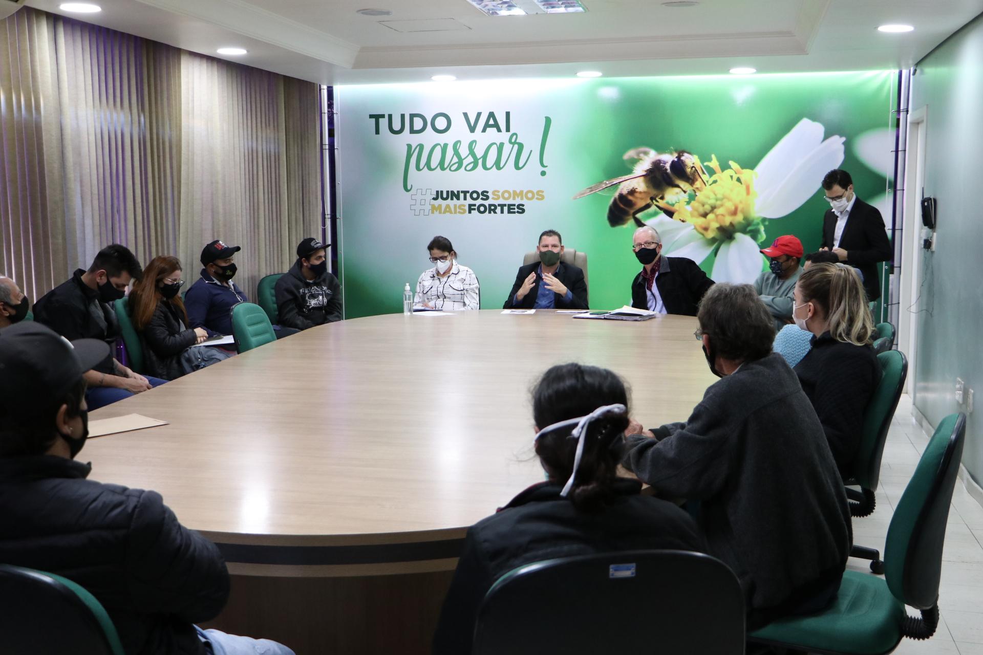 Prefeitura e Defesa Civil reúnem moradores de área de risco em Concórdia