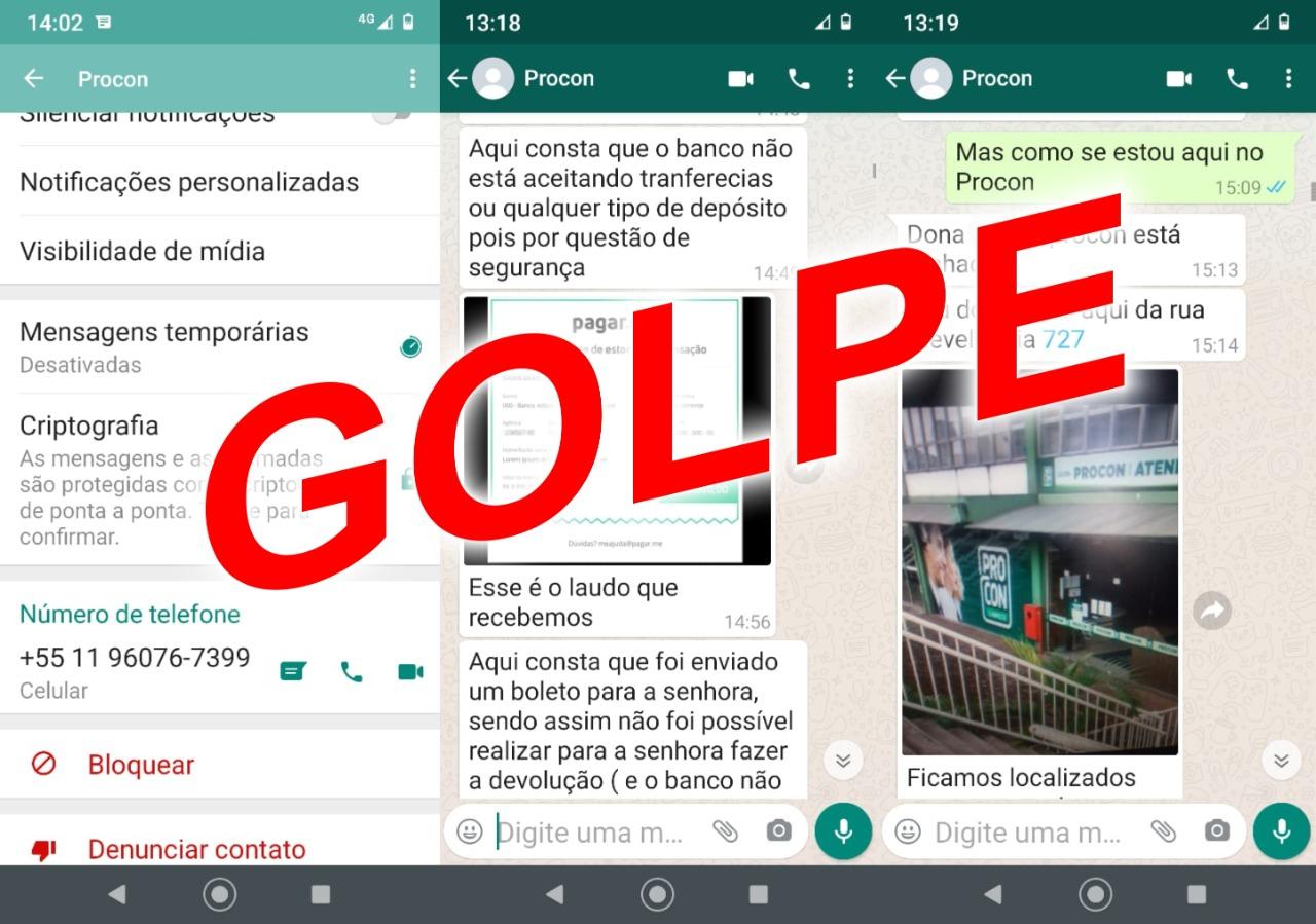 Procon de Chapecó alerta sobre golpe envolvendo o nome da instituição no Whatsapp