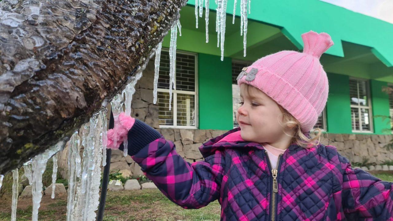 Cidades de Santa Catarina registram temperaturas negativas