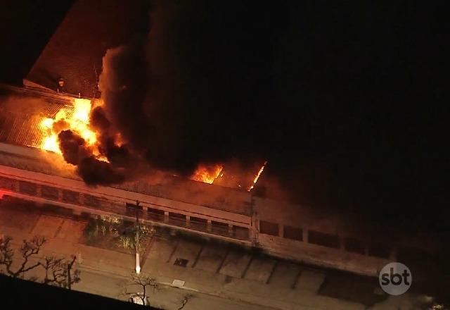 Vídeo: incêndio atinge prédio da Cinemateca Brasileira, em São Paulo