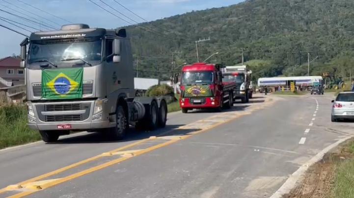 Rodovias federais de Santa Catarina não têm pontos de bloqueio